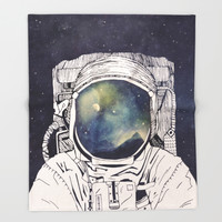 Dreaming Of Space Throw Blanket by Tracie Andrews