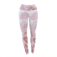 "Catherine Holcombe ""Flower Power Pink"" Map Yoga Leggings"