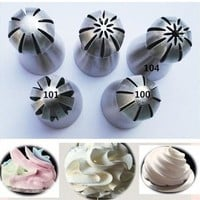 5Pc Russian Flower Cake Decorating Icing Piping Nozzles Pastry Tips Baking Tool [8833996172]