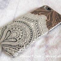 Vintage bali iPhone 5 case/iPhone 5C case / Asian Indian iPhone 4 case/ Floral Bali iPhone 4S case/ iPhone 3G case/ iPhone 3Gs case