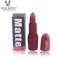 MISS ROSE Brand Matte Lip Moisturizer Nude Lipstick Cosmetic 18 Colors Beauty Makeup For Girls In Party and daily