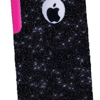 OtterBox Commuter Series Case for iPhone 5c - Custom Glitter Case for iPhone 5c - Black/Pink
