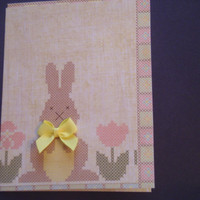 Country Easter Bunny Happy Easter Card