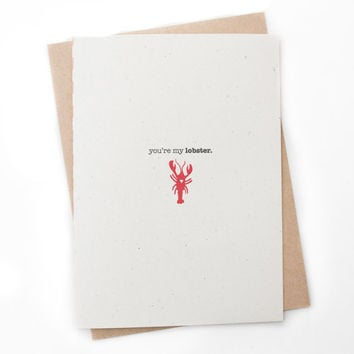 Cute Relationship Card - You're My Lobster! - Love Card, Anniversary Card