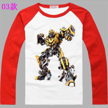 2-14 Years Teenagers Teens Children Kids Baby Boys T Shirts Spring Autumn New Cartoon Kids Clothes Long Sleeve T Shirts Enfant