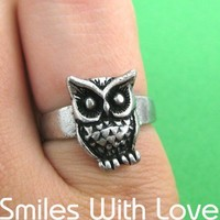 Owl Animal Ring in Silver - Sizes 5 to 7 Available
