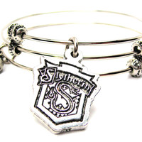 Slytherin House Crest Triple Style Expandable Bangle Bracelet