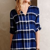 Pintucked Flannel Tunic by Holding Horses Blue Motif