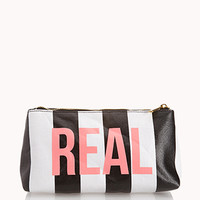 Real/ Fake Cosmetic Pouch