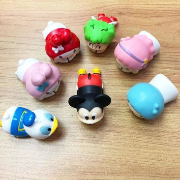 Cable Bite Protector for Type-C Phone Micky Duck Bear Cute Cartoon Silicone Charging Data Earphone Line Protector for Samsung
