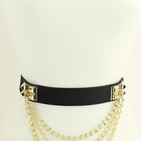 Gold Metal Plated Chain Belt (+Colors)
