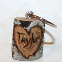 Personalized Tree Branch Keychain  Have initials or by Berryhills