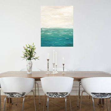 Seascape Abstract Coastal Blue Original by KamaraLarryStudio