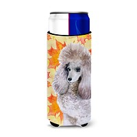 Poodle Fall Michelob Ultra Hugger for slim cans