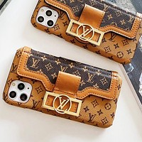 LV Louis Vuitton Men Women Leather Phone Cover Case For 7 7plus iPhone X XR XS XS MAX IPhone 11 11pro 11Pro Max