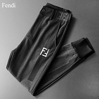 Fendi Fashion New Embroidery Letter Sports Leisure Pants Men