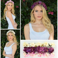 Boho Boutique Bunched Flower Hair Crown