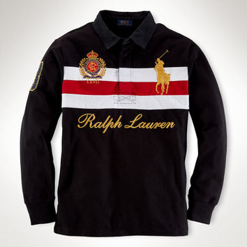 STRIPED COTTON RUGBY