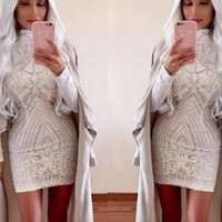 White Sequin Jerica Dress