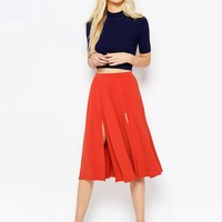 ASOS Midi Skirt with Splices