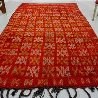 Authentic moroccan red rug 6x9 - Traditional moroccan rugs