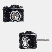 Betsey Johnson Camera Stud Earrings