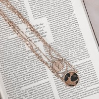 Nala Gold Triple Layer Leopard Chain Necklace