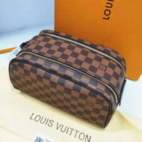 LV Louis Vuitton Classic Popular Women Cosmetic Bag Leather Handbag