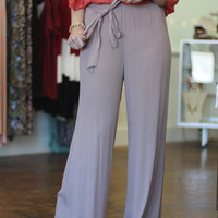 Miss Independent Wide Leg Pants {Mocha}
