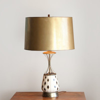 Vintage Black and Gold Atomic Table Lamp