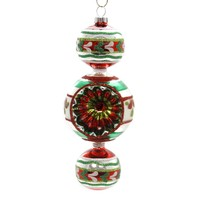Shiny Brite HS THREE BALL DROP W/REFLECTOR Glass Ornament Christmas 4027586
