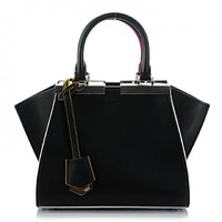 Fendi 2 Jours Calf Leather Black Iris Palladium Hardware Bag