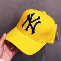 NY Fashion New Embroidery Letter Women Men Cap Hat Yellow