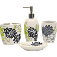 Waverly by Famous Home Fashions Cheri 4-Piece Bathroom Accessory Set - White | Meijer.com