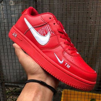 Nike AF1 Air Force One Men's and women's casual low-top breathable sneakers sports shoes multi-color optional