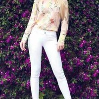 Classic White Stretch Jeggings