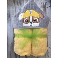 Paw Patrol Rubble Hooded Towel