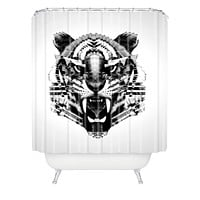 Three Of The Possessed Tiger 4040 Shower Curtain
