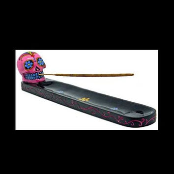 Pink Skull Day of the Dead Incense Ash Catcher