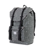 Herschel Supply Co.: Little America Backpack Mid-Volume - Diver Down / Black Synthetic Leather