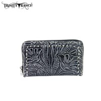 Montana West TR24-W003 Trinity Ranch Tooled Wallet