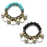 Bead and chain bracelet *br4383-37*