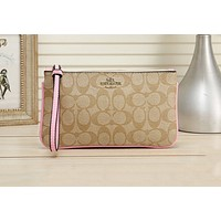 Samplefine2 Coach Women's Fashion New Wild Print Clutch Coin Purse 1#