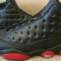 Discount Mens Shoes Retro XIII Dirty bred basketball shoes 13 retro black gym red black Mens Sports Shoes Men Trainers Cheap Athletics Boots