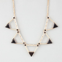 Full Tilt Cutout Triangle Statement Necklace Gold One Size For Women 24592162101