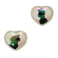 Disney The Little Mermaid Ariel And Eric Heart Stud Earrings