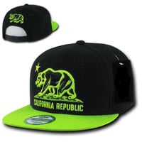 Lime Green and Black Snapback