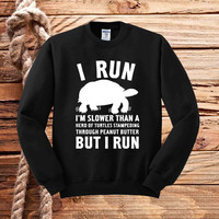 I run flower sweater unisex adults