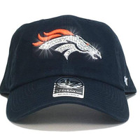 Denver Broncos '47 Brand Adjustable Cap + Swarovski Crystals