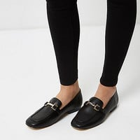 Black soft loafers - flat shoes - shoes / boots - women